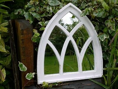 Large Decorative Gothic Arched Door Wooden Framed Garden Wall Mirror Arch 66cm