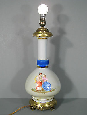 Base Lamp Porcelain And Bronze / Lamp Old / Ancient Style Romantic