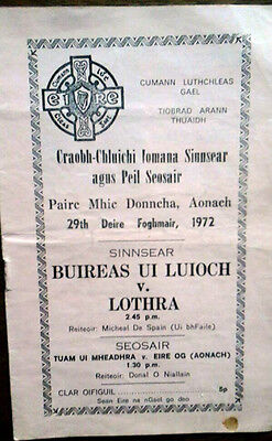 Buireas Ui Lui Och V Lothra 1972 North Tipp Gaa Senior  Football Final