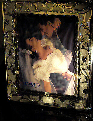 Waterford Crystal Floral Large Picture Frame 8x10 New in Box