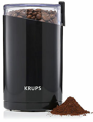 Krups Twin Blade Coffee Mill, Grind All Types of Dry Spices, Nuts, Herbs - Black