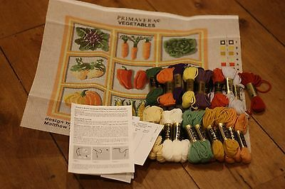 PRIMAVERA needlepoint tapestry DISCONTINUED VINTAGE kit VEGETABLES  MATTHEW RICE