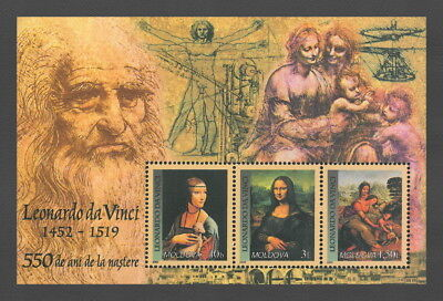 Moldova 2002 Art 550th Birth Anniversary of Leonardo da Vinci MNH block