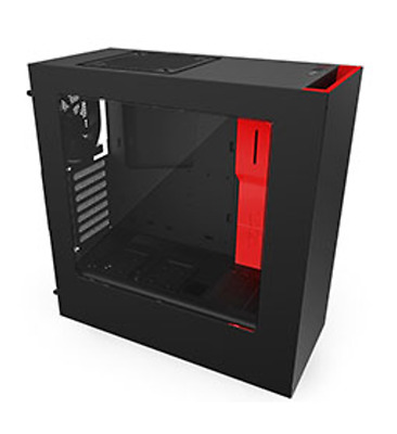 NEW NZXT S340 Mid Tower Case Black/Red