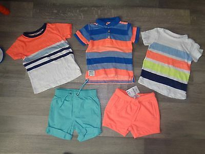 baby boy Next summer tops shorts VGC wore twice/NEW 12-18 mths