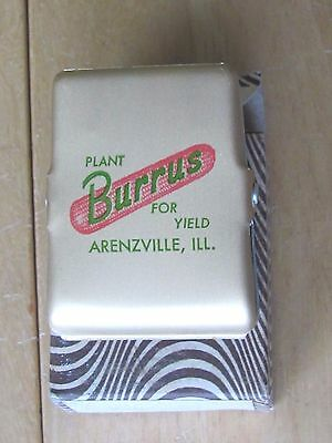 Vintage Advertising Burrus Seed Corn Metal Clip Arenzville Ill In Box