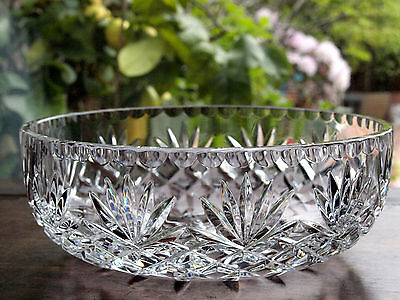 Thomas Webb Crystal Festival 9in Bowl Vintage, Mint
