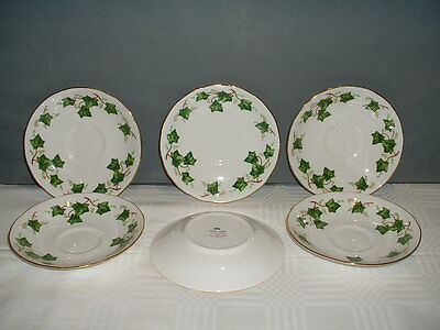Colclough Ivy Leaf Bone China  saucers, plates, milk jug