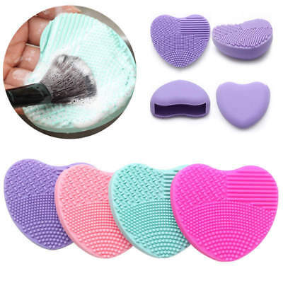 Heart Silicone Make Up Brush Cleaner Wash Scrubber Board Cosmetic Clean Pad Mat
