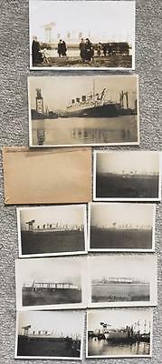Cunard White Star Rms Queen Mary Unpublished 9X Photo Building Pre Maiden 34/36