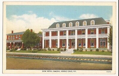 Horse Cave, Kentucky New Hotel Owens Post Card
