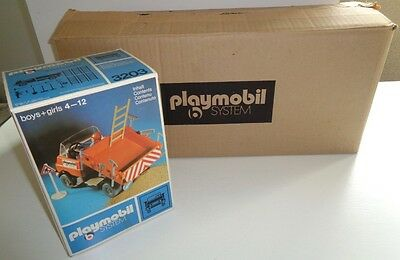 "Ultra rare 1974/75 Playmobil 3203 ""Bautruck"" Case-Fresh Factory Sealed NEW NEUF"