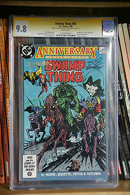 SWAMP THING #50 - Alan Moore story CGC SS 9.8 Signed Bissette & Totleben