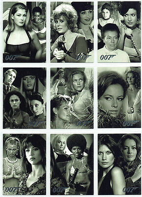 James Bond Quotable Compelte Villains & Vixens Set of 9 Chase Cards UK1 to UK9