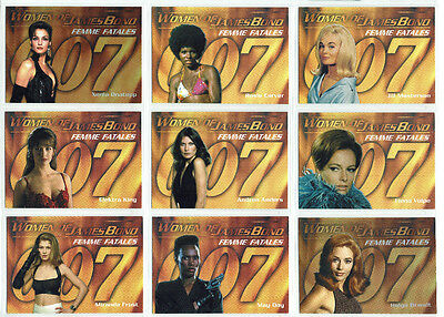 Women of James Bond In Motion Complete Femmes Fatales Set of 9 Chase Cards F1-F9