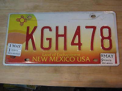 2011 New Mexico Hot Air Balloon License Plate Expired Kgh 478