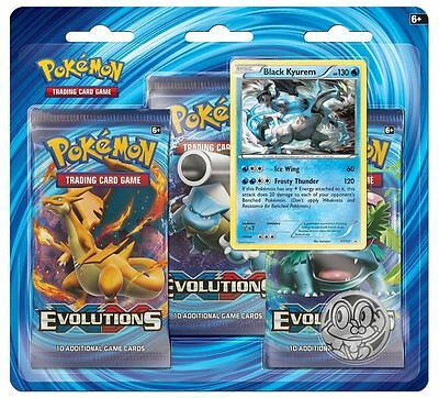 Pokemon TCG: XY12 Evolutions Triple Booster Pack (Black Kyurem)