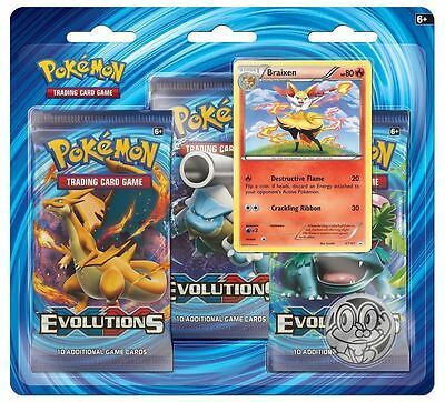 Pokemon TCG: XY12 Evolutions Triple Booster Pack (Braixen)