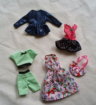 Barbie doll  flowered Spring  dress and matching bag- green shorts top outfits