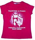 """childs riding t-shirt - age 10-12 """"WANTED A PONY, THREW A TANTRUM, GOT ONE!"""""""