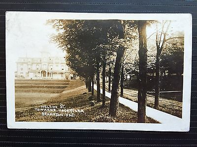 Circa 1912 Real Photo Postcard Nelson Street Towards Hacartlea BRAMPTON Ontario