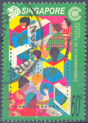 SINGAPORE SC 971 USED STAMP 2001 Education 60c commonwealth of people