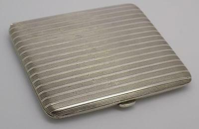 76g Antique Solid Silver Italian Cigarette Case - Stamped - Made in Italy