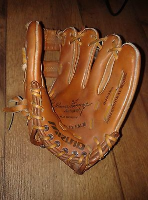 mizuno base ball glove vintage 80's leather softball / decorating / antique