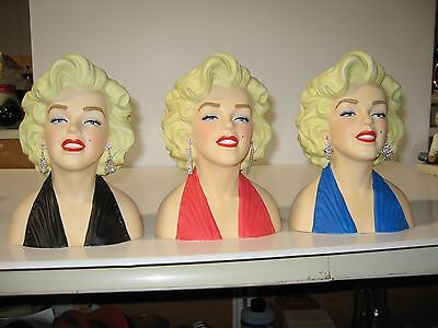 "7 Inch Licensed Marilyn Monroe Head Vase Your choice of Color ""CLOSE OUT"""
