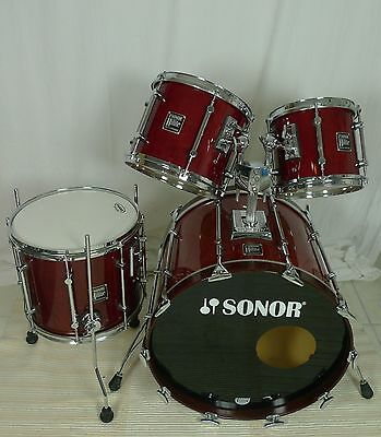 Sonor Hilite Red Maple 10,12,14 TT/FT + 22BD