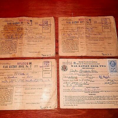War Ratiin Book No.3 [34,35,36]  and War Ration Book 2 Lot#ww-2