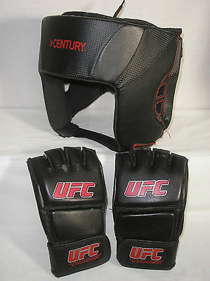 Century Kickboxing Head Gear size L/XL and Martial Arts UFC Gloves size L/XL