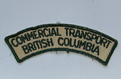 Vintage Commercial Transport British Columbia Patch