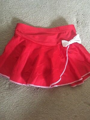 Bounty Red And White Ice Skating Skirt Size Xs