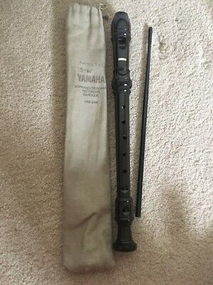 Yamaha Brown Recorder , Cleaner Stick And Case