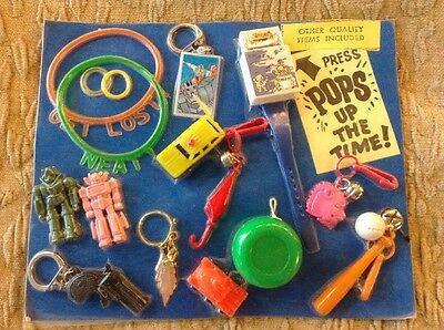 Vtg Vending Display Card Robot Transformers Pop Up Watch 1980's Clip On Charms