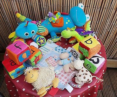 Lovely Bundle of Soft Sensory Baby Activity Toys