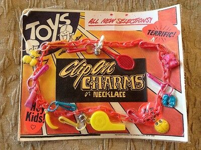1980's Vending Teaser Card Clip On Bell Charms Jewellery Whistle Cherry Tennis