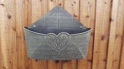 Letter Box Wall Plastic Basket Planter Wall Mounted Trough