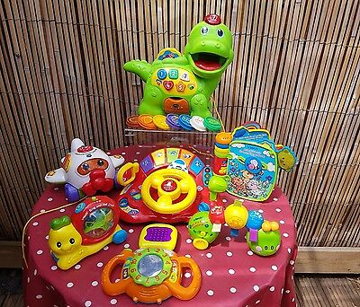 Super Vtech Baby Toddler Toy Bundle with Counting Dinosaur