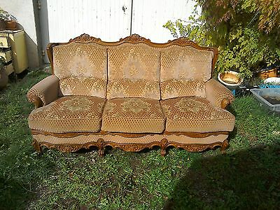 Genuine French antique vintage Louis Philippe style settee, sofa