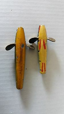 2 VINTAGE Hatton of Hereford minnow lures.