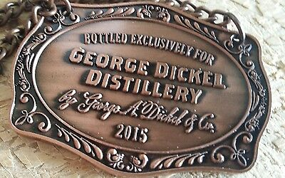 ↗ MADE EXCLUSIVELY FOR    ↖2015  George Dickel   ☆☆ COPPER COLORED ☆☆ Hang Tag