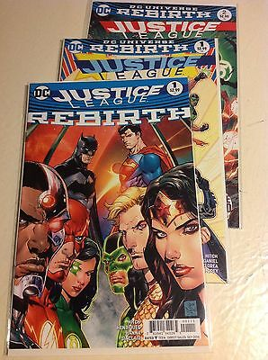JUSTICE LEAGUE: REBIRTH #1 & Justice League #1 & #2 (NM 9.4)