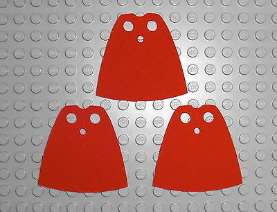 LEGO - 3x Umhang in ROT / 3x RED Cape Cloth Standard Mantel Figur 522