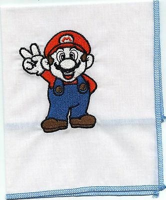 Super Mario Embroidered  Child Hankie