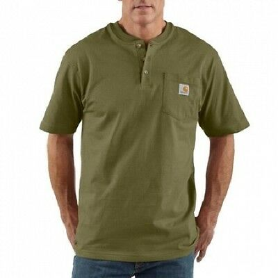 6 New Carhartt Henley Shirts 2XLT- 3XLT EmbroideredFree W Company Name & design