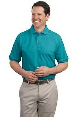 12 Silk Touch 65/35 Polo Shirts 7XL-10XL Embroidered Free4Ur Business Company