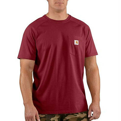 12 New Carhartt Force Wicking Pocket TShirts EmbroideredFree4Ur Company Business