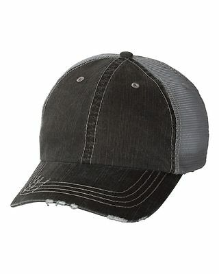 12 New Herringbone Mesh Trucker  Hats Embroidered 4U Unstructured Low Profile